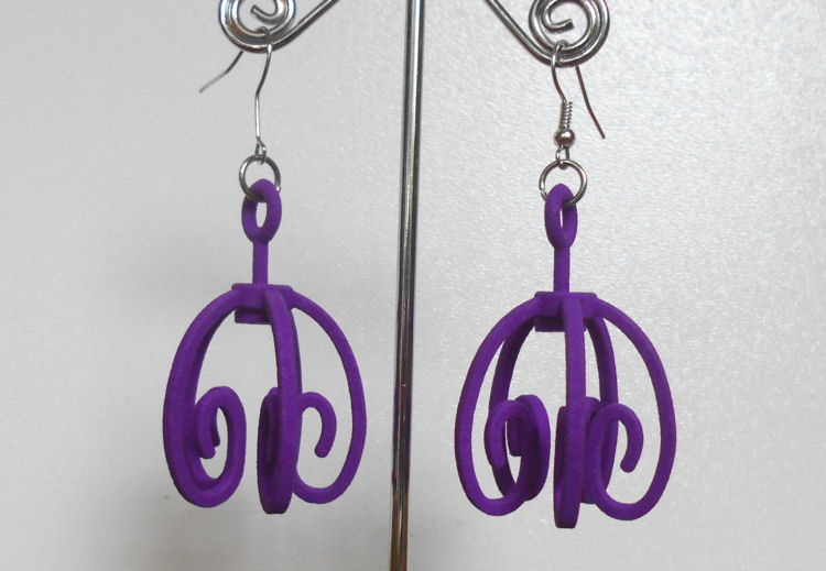 My first 3D printed earrings are up for sale on shapeways!