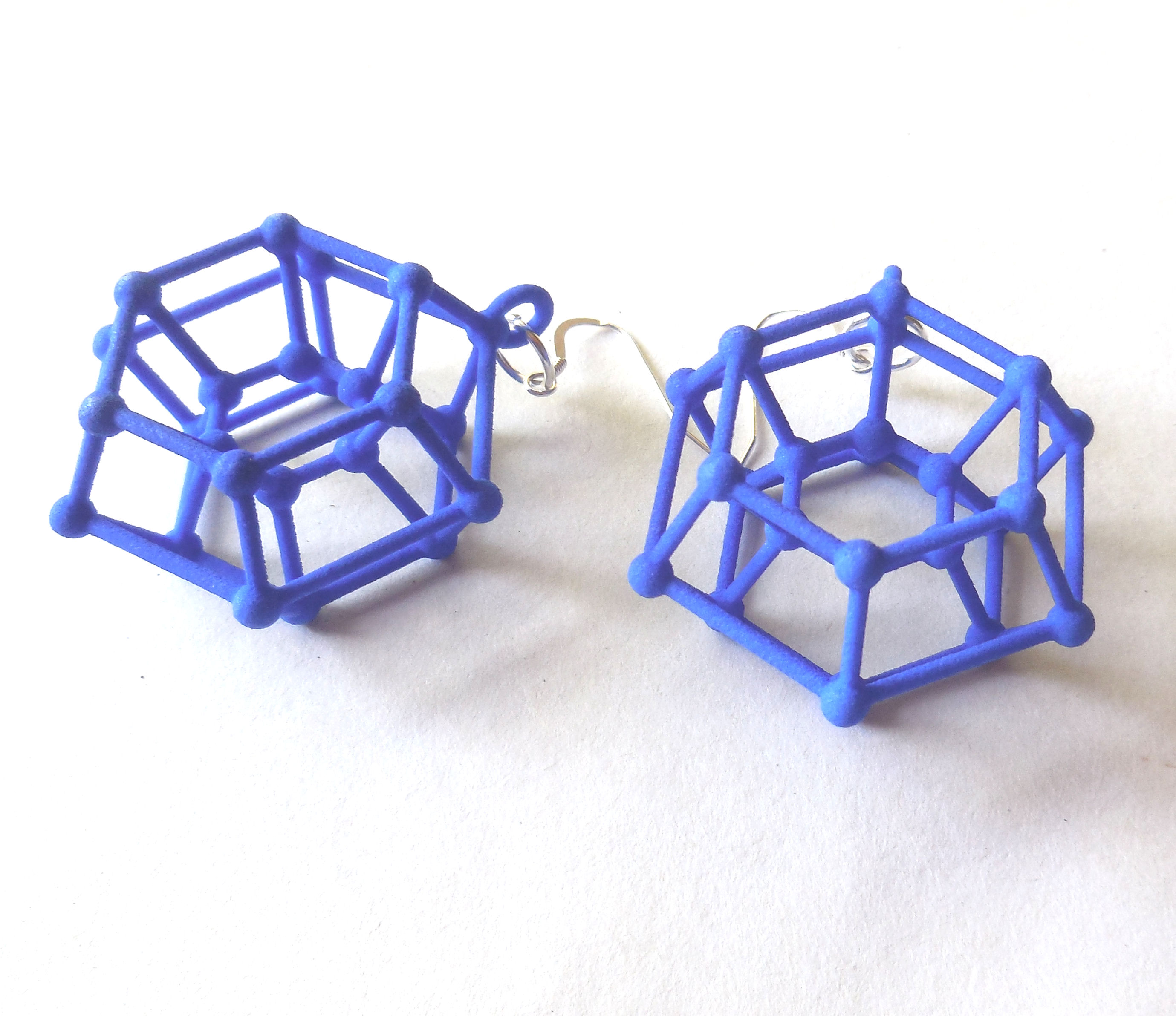 New 3D printed plastic earrings for the Etsy shop