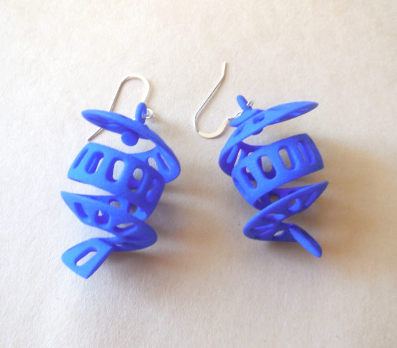 More 3D Printed Plastic Earrings Added to the Etsy Shop