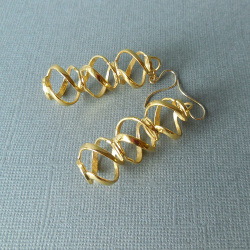 A new pair of gold plated earrings